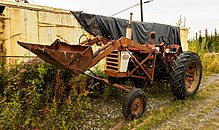 abandoned farmall 460 in tok, alaska