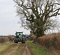 Tractor on farm track - geograph.org.uk - 1759463.jpg