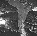 Tracy Arm and Sawyer Glacier, tidewater glacier terminus and hanging glacier, August 24, 1963 (GLACIERS 5904).jpg