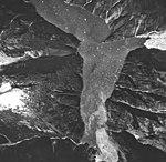 Tracy Arm and Sawyer Glacier, tidewater glacier terminus and hanging glacier, August 24, 1963 (GLACIERS 5904).jpg