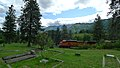 Train passing Leavenworth Cemetery on North Road, Chelan County Washington.jpg