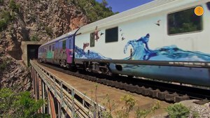File:Trains in Assopos gorge, May 2017..webm