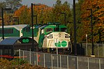 Trainspotting GO train -444 headed by MPI MP-40PH-3C -606 & banked by EMD F59PH -558 (8123568319).jpg