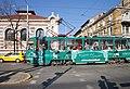 Tram in Sofia near Central mineral bath 2012 PD 078.jpg
