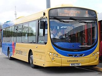 Blackburn Bus Company - Wright Eclipse 2 bodied Volvo B7RLE in Bolton in April 2012