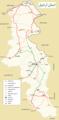 Transport map of ardabil province نقشه حمل و نقل استان اردبیل.png
