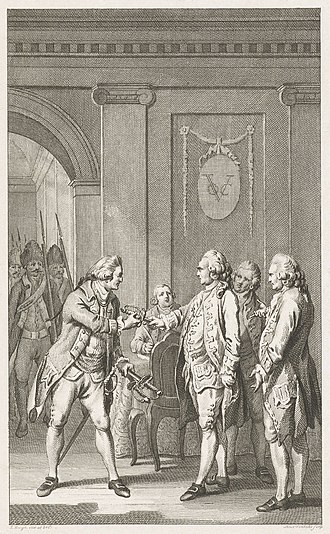 Gustaaf Willem van Imhoff - The arrest of Van Imhoff