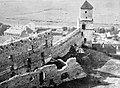 Trencsén 1929, Látkép a várral. Fortepan 11686.jpg