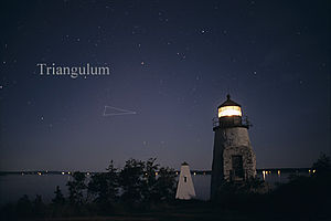 Triangulum - The constellation Triangulum as it can be seen by the naked eye.
