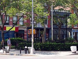 Duane Park park in Tribeca, New York City