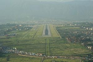 Tribhuvan International Airport - Aerial view