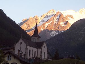 Trient, Switzerland - Church in Trient