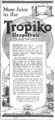 Tropiko grapefruit newspaper ad.png