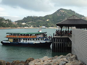 Blake Pier at Stanley - Tsui Wah Ferry docked at Blake Pier.