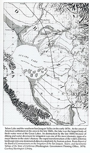 Buena Vista Lake - Image: Tulare Lake 1874