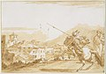 Turkish Lancer and Onlookers Approaching a Town MET DT11804.jpg