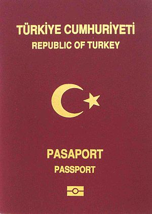 Turkish passport - The front cover of a current Turkish biometric passport