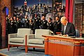 "U.S. Army Chief of Staff Ray Odierno, left, and Soldiers assigned to the 3rd U.S. Infantry Regiment (The Old Guard) perform the Top 10 list on the ""Late Show with David Letterman"" in New York City June 12, 2013 130612-A-KF670-001.jpg"