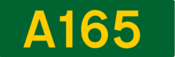 A165 road shield