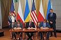 US-Ukraine-Poland ministers signing the Memorandum in Warsaw - 2019.jpg