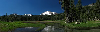 Kings Creek a Lassen Volcanic Nemzeti Parkban, Kalifornia, USA