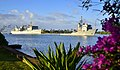 USNS Sioux (T-ATF-171) tows HMCS Protecteur (AOR 509) into Pearl Harbor in 2014.JPG