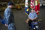 USS Arizona survivor visits USS America 141023-N-LQ799-184.jpg