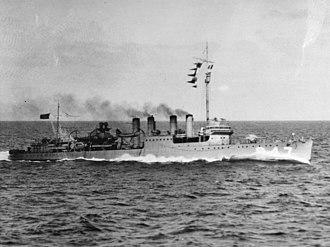 USS Goff (DD-247) - USS Goff (DD-247) underway on 25 March 1923