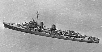 USS Hazelwood (DD-531) - USS Hazelwood (DD-531) in 1943.