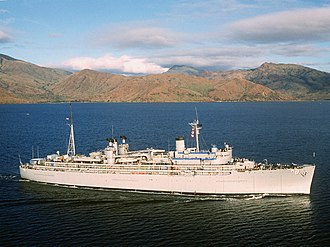 USS Jason (AR-8) - Image: USS Jason (AR 8) underway in 1993