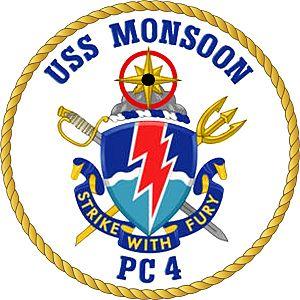 USS Monsoon - Image: USS Monsoon Crest