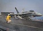 USS Nimitz conducts flight operations. (36648067090).jpg