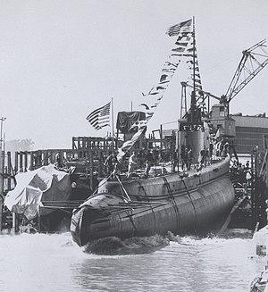 USS Wahoo (SS-238) - Launching