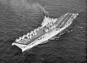 USS Yorktown at sea in the Pacific, 1963