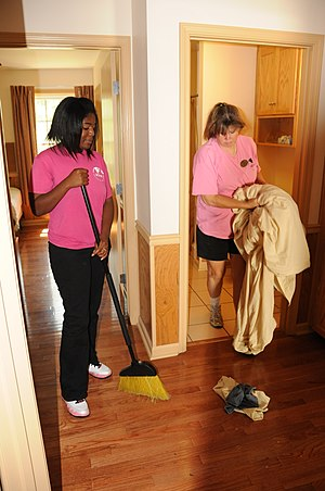 Housekeeping - Cleaning the floor