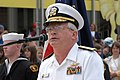 US Navy 030510-N-6477M-350 Rear Adm. John Kelly thanks the citizens of Everett for their support before the start of a parade honoring the sailors of the USS Abraham Lincoln (CVN-72) and their families.jpg