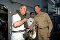 US Navy 040715-N-6213R-009 Chilean Commander, Chief of Naval Operations Vice Adm. Jorge Huerta left, meets Commander, Carrier Group Seven, Rear Adm. Patrick M. Walsh.jpg