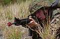 US Navy 050627-N-9866B-041 A U.S. Marine aims his M-16 rifle, armed with blanks, during infantry training.jpg