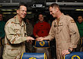 US Navy 060104-N-7241L-012 Chief of Naval Operations (CNO), Adm. Mike Mullen, talks with air crew assigned to the Valions of Strike Fighter Squadron One Five (VFA-15) during a visit to the Nimitz-class aircraft carrier USS Theo.jpg