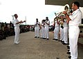 US Navy 060612-N-3931M-049 U.S. Navy Showband Sailors embarked aboard the U.S. Military Sealift Command (MSC) Hospital Ship USNS Mercy (T-AH 19), perform for local residents.jpg