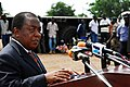 US Navy 071120-N-8933S-120 William Boafo, deputy Minister of Defense, speaks at the Africa Partnership Station (APS) ground-breaking ceremony commemorating the initial construction of a new medical clinic.jpg