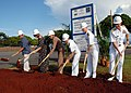US Navy 090212-N-3666S-012 dignitaries break ground during a ceremony for a new NEX Fleet Store and MWR Information, Tickets and Travel and Outdoor Adventure Center at Naval Station Pearl Harbor.jpg