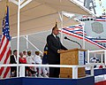 US Navy 090516-N-0860R-091 Retired Adm. J. Paul Reason remarks about his friend, the late Vice Admiral Samuel L. Gravely, during the christening ceremony for the pre-commissioning unit (PCU) Gravely (DDG 107).jpg