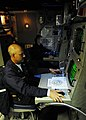 US Navy 090616-N-7092S-031 Senior Chief Sonar Technician Surface Anthony Beggs, left, and STG3 Joshua Colantuano monitor data from the tactical towed array sonar aboard the guided-missile frigate USS Kauffman (FFG 59).jpg