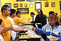 US Navy 090806-N-3038C-021 Sailors and Delayed Entry Program recruits from Navy Recruiting Station Salinas serve breakfast to the needy at Dorothy's Place in Salinas, Calif.jpg