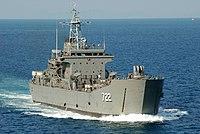 US Navy 100203-N-6692A-154 The Royal Thai Navy medium landing ship HTMS Surin (LST 722) transits the Gulf of Thialand