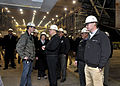 US Navy 110223-N-ZB612-069 Chief of Naval Operations (CNO) Adm. Gary Roughead speaks with Bath Iron Works employees working on Navy projects.jpg