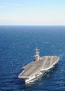 US Navy 120131-N-YM590-227 USS George H.W. Bush is underway in the Atlantic Ocean.jpg