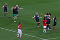 US players celebrate winning the gold medal vs Japan, 2012 Olympic Games.jpg