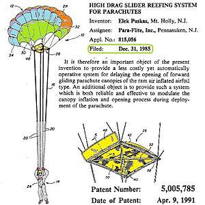 Slider (parachuting) - Image: U Spat 5005785sliderdampsop ening